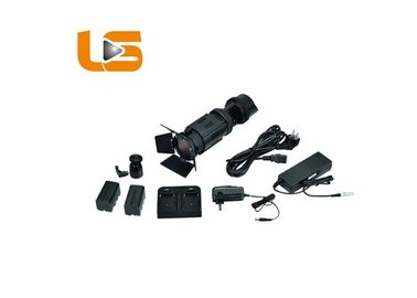 4 Kit Pencahayaan Studio Barndoors LED Ultra Bright Pro Kit Pencahayaan Foto Hitam